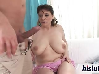 Lush Beata side nailed and gets spunk on her unshaved mature cunny free porn