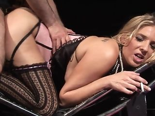 Jordan takes pulsating manmeat deep inwards the brush raw coochie Bohemian sex