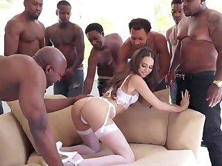 Broad in the beam BLACK COCK Group Sex Riley Reid