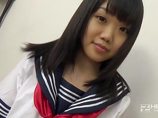Asian honey, Natsuno Himawari is wearing say no to college uniform while getting smashed and fellating prick