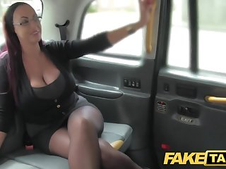 Fake Cab Scrivener looking lady with elephantine tits plus wet phiz