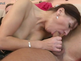 Hot mature Materfamilias fucked by the brush young manhood