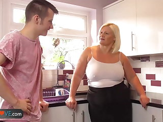 Agedlove grown-up big blowjob and doggystyle
