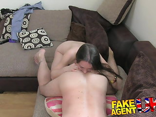 FakeAgentUK venal euro chick gets anal creampie exposed to casting
