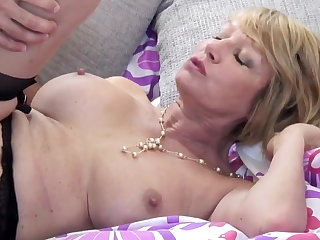 Mature slut mom suck together with fuck young guy