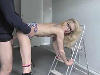 Petite babe coils ass for step procreate