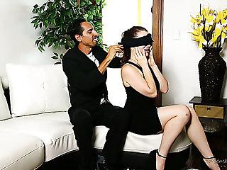 Useless BF watches his pale bootyful girl Jessica Ryan riding big cock
