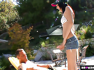 Lovely summer girl Kenna Kane is happy less suck delicious cock of her stud