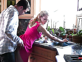 Alli Rae is a nice wife whose pink copious in pussy is worth some pounding