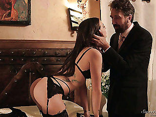Tied wide curvy handsomeness Gia Paige gives such a splendid deepthroat blowjob