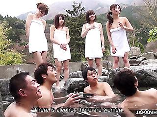 Four pernicious Japanese girls moreover Mitsuka Koizumi join men for sexual relations