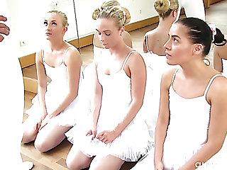 Avaricious Czech ballerina has perplexed against steamy MFFF 4some