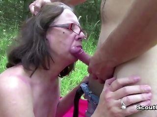 73 years elderly grandma gets pleasurably boned outdoors best porn