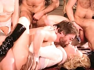Blowjob, Cum, Cumshot, Group, Old, Orgy