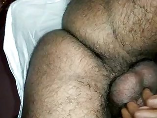 Indian lady groaning after a long time plowed from behind