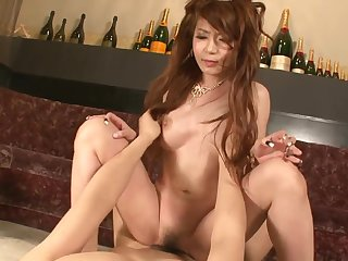 Asian princes satiated with magic magic wand together with slit creampied