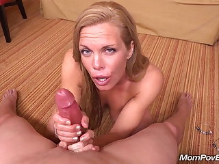 Adapt MILF sucks coupled with fucks young cock