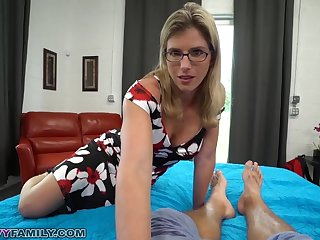 Slutty Mom Cory Pursue Gives Step Lass a Helping Hand and Pussy